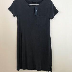 distressed navy t-shirt dress